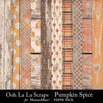 Pumpkin Spice Wood Paper Pack-$1.99 (Ooh La La Scraps)