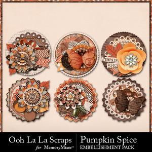 Pumpkin spice cluster seals medium