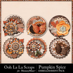 Pumpkin spice cluster seals small