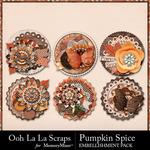 Pumpkin Spice Cluster Seals Pack-$1.99 (Ooh La La Scraps)