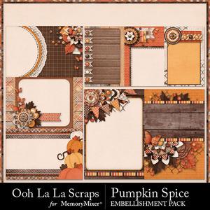 Pumpkin spice journal cards medium
