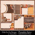 Pumpkin Spice Journal Cards Pack-$1.99 (Ooh La La Scraps)