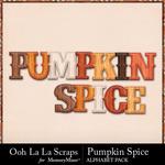 Pumpkin spice alphabets small