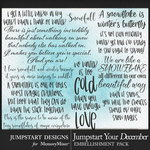 Jumpstart Your December 2017 WordArt Pack-$3.99 (Jumpstart Designs)