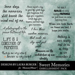Sweet Memories LB WordArt Pack-$4.99 (Laura Burger)
