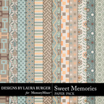Sweet Memories LB Pattern Paper Pack-$3.99 (Laura Burger)