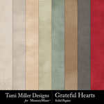 Grateful Hearts Solid Paper Pack-$2.99 (Tami Miller)