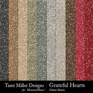 Grateful hearts glitter sheets medium