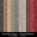 Grateful hearts glitter sheets small