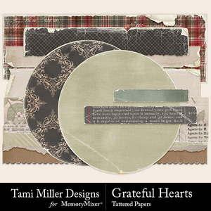 Grateful hearts tattered pieces medium