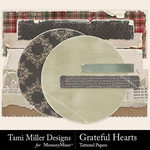 Grateful hearts tattered pieces small