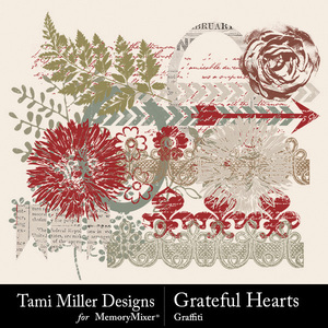 Grateful hearts graffiti medium