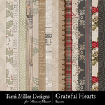 Grateful Hearts Paper Pack-$2.80 (Tami Miller)