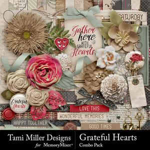 Grateful hearts comb pack medium