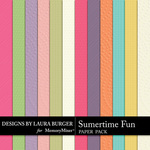 Summer Fun LB Embossed Paper Pack-$3.99 (Laura Burger)