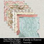 Family is Forever Tattered Paper Pack-$4.99 (Tami Miller)