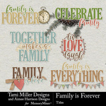 Family is Forever Titles Pack-$3.49 (Tami Miller)