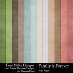 Family is Forever Solid Paper Pack-$4.99 (Tami Miller)