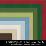 Christmas Carols LJ Embossed Paper Pack-$2.49 (Lindsay Jane)