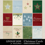 Christmas Carols LJ Journal Cards Pack-$2.49 (Lindsay Jane)