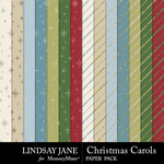 Christmas Carols LJ Glitter Paper Pack-$2.49 (Lindsay Jane)