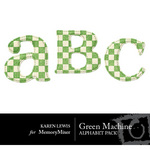 Green Machine Alphabet Pack-$0.99 (Karen Lewis)