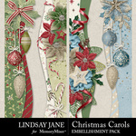 Christmas Carols LJ Borders Pack-$2.49 (Lindsay Jane)