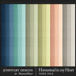 Homestead in My Heart Solid Paper Pack-$3.99 (Jumpstart Designs)