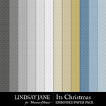 Its Christmas Embossed Paper Pack-$2.49 (Lindsay Jane)