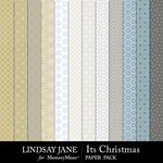 Its Christmas Pattern Paper Pack-$2.49 (Lindsay Jane)