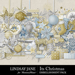 Its Christmas Embellishment Pack-$3.49 (Lindsay Jane)