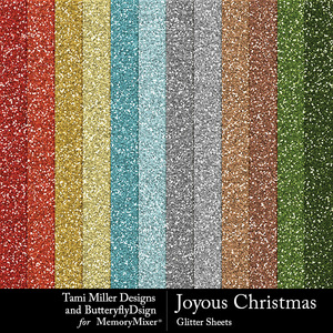 Joyous christmas glitter sheets medium