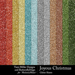 Joyous christmas glitter sheets small