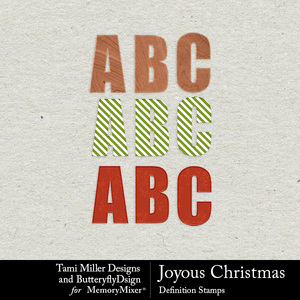 Joyous christmas alpha pack medium