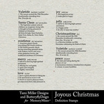 Joyous Christmas Definitions Pack-$3.49 (Tami Miller)