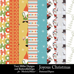 Joyous christmas patterned medium