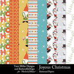 Joyous Christmas Patterned Paper Pack-$2.50 (Tami Miller)