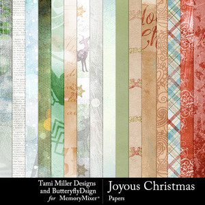 Joyous christmas papers medium