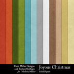 Joyous christmas solids small