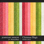 Christmas Magic Festive Paper Pack-$2.80 (Jumpstart Designs)