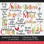 Christmas Magic WordArt Pack-$2.80 (Jumpstart Designs)