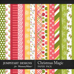 Christmas Magic Paper Pack-$2.80 (Jumpstart Designs)