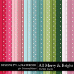 All Merry and Bright Solid Paper Pack-$4.99 (Laura Burger)