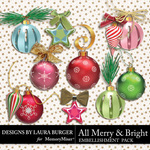 All Merry and Bright Tree Trimming Pack-$4.99 (Laura Burger)