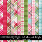 All Merry and Bright Plaid Paper Pack-$3.99 (Laura Burger)