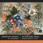 As Fall Fades Away Stamped Accents Pack-$2.80 (Jumpstart Designs)
