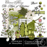 Country Christmas Embellishment Pack-$3.00 (Julie Klaus)
