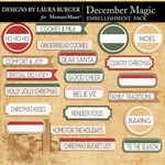 December Magic Label Pack-$2.80 (Laura Burger)