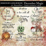 December Magic WordArt Pack-$3.50 (Laura Burger)
