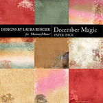December Magic Grunge Paper Pack-$2.50 (Laura Burger)